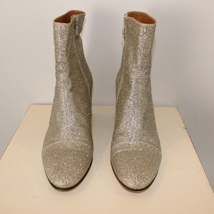 Dries Van Noten Glitter Booties